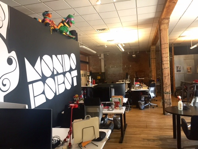 Scott's cool modern office space.