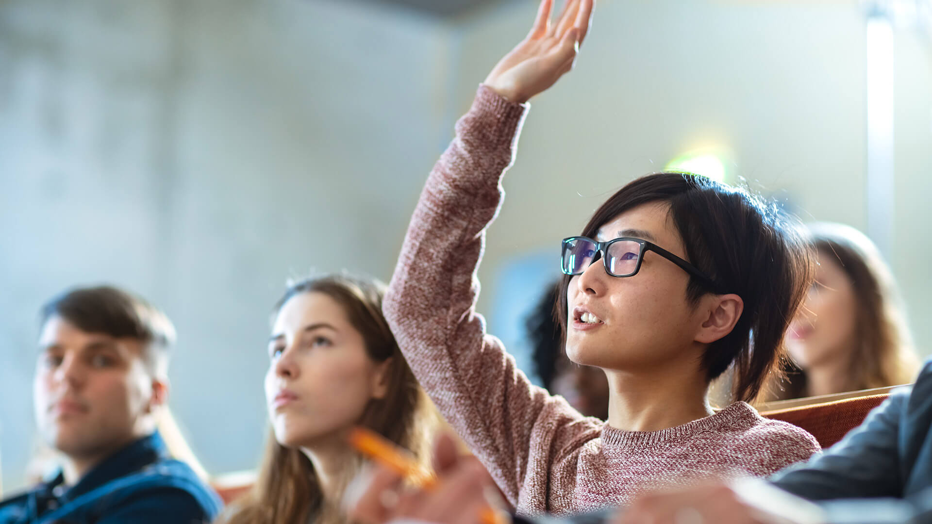 Smart Asian Student Asks Professor a Question