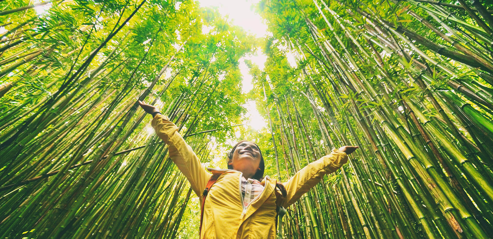 Sustainable eco-friendly travel tourist hiker