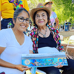 Dolores Huerta and Selena of The 559 Mural Project